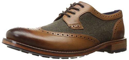 Ted Baker Men's Cassiuss 4 Lthr Am Oxford, Tan/Brown, 10 M US