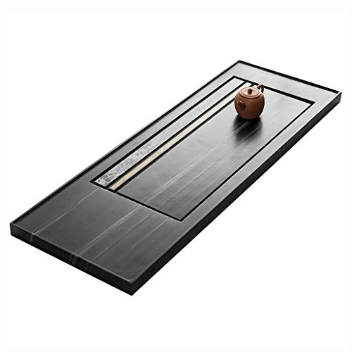 Find Bargain Tea Tray Simple Chinese Kung Fu Tea Table Tea Room Tea Set, Natural Ebony Tea Tray Japa...
