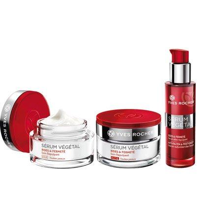 Yves Rocher SÉRUM VÉGÉTAL Pflege-Set Anti-Falten & Festigkeit, Anti-Aging Gesichtspflege-Set mit Serum, Tages- & Nacht-Pflege, Beauty Geschenkidee für Frauen
