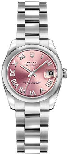 Rolex Lady-Datejust 26 179160 Pink Roman Numeral Dial on Oyster Womens Watch