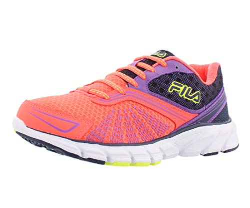 Fila Memory Electro Volt 2 Running Women's Shoes, Orange/Purple/Grey, 9.5