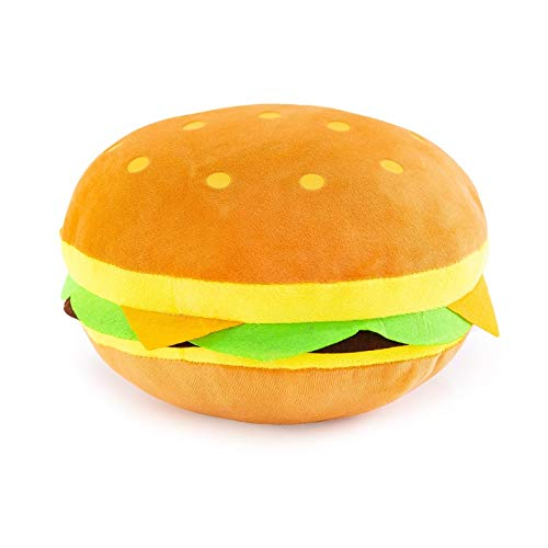 AKLDPD Cartoon Creative Burger Plush Toy Cute Simulation Burger Plush Toy Pillow Stuffed Toys Children Birthday Gifts (Color : 30CM)