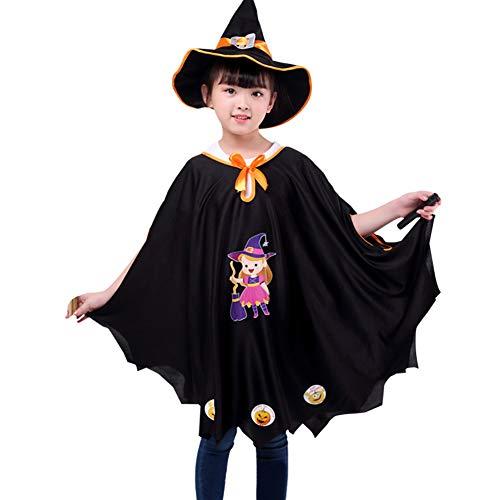 Capa de calabaza infantil para Halloween, Navidad, carnaval, niña, poncho con sombrero de bruja, abrigo medieval, traje de calabaza, disfraz de calabaza, disfraz de calabaza, disfraz, cosplay o fiesta
