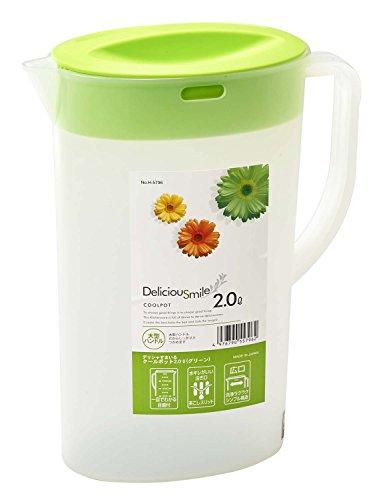 『パール金属 日本製 お茶 麦茶 ポット 2.0L グリーン クールポット デリシャすまいる H-5796』のトップ画像
