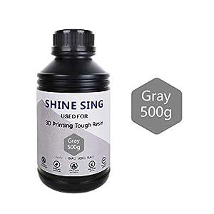 SHINE SING 3D Rapid Resin LCD UV-Curing Resin 405nm Standard Photopolymer Resin for LCD 3D Printing 500Gram Gray
