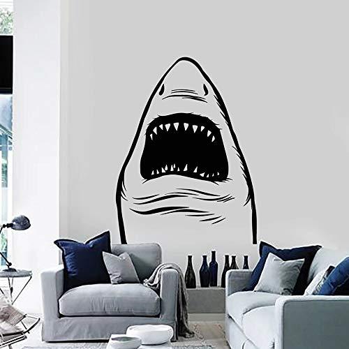 WERWN Pegatinas de Pared de Animales tiburón pez depredador océano océano Tema Estilo Dormitorio Sala de Estar decoración del hogar Pegatina de Vinilo Arte Mural