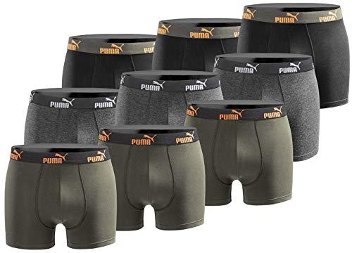 PUMA Herren Boxershort Limited Statement Edition 9er Pack - New orange Power - Gr. M