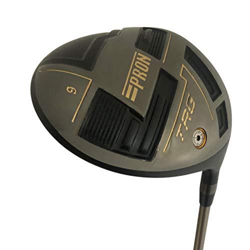 wazaki Japan Titanium verstellbarer Driver USGA R A Rules Golfschläger mit Schlägerhaube, schwarzes Öl-Finish, 460 cc, 10 Grad Loft, Senior Flex, TRV21 Modell