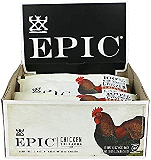 Epic All Natural Meat Bar,1.5 oz. (Chicken Sriracha, 24 Count)