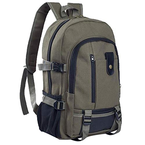 HDUFGJ Segeltuch Rucksack Casual Schultasche Outdoor-Reisetasche diebstahlsicherer Rucksack Rucksack Sale Schultertasche mit laptopfach Multifunktionaler Wanderrucksack Skirucksack