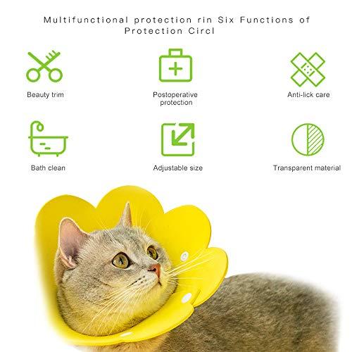 BESYLO Halskrause Hund, 2PCS Halskrause Katzen,After zur Genesung nach Einer Operation oder Wunde bei Hunden und Katzen (Gelb)