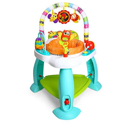 Jouets musicaux Jouets éducatifs pour Enfants Support de Jouets pour bébé 0-6-12 Mois Chaise de Saut pour Enfants 1-2-3 Ans Jouets d'éveil et 1er âge (Color : Blue, Size : 75 * 75 * 85cm)
