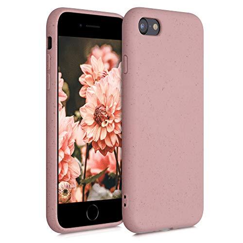 kalibri Funda Compatible con Apple iPhone 7/8 / SE (2020) Carcasa Hecha de TPU y Trigo Natural ecológico - Rosa Viejo