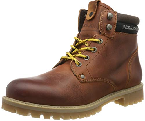 JACK & JONES Herren JFWSTATTON Leather Klassische Stiefel, Braun (Rust Rust), 43 EU