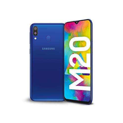 """Samsung Galaxy M20 Smartphone, Display 6.3"""" FHD+, 64 GB Espandibili, RAM 4 GB, Batteria 5000 mAh, 4G, Dual SIM, Android 8.1.0 Oreo, Blu"""