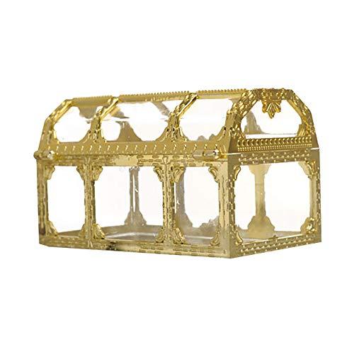 Bio-Kunststoff Glas Schmuckschatulle,Schmuck Organizer Schmuckschatulle Golden Ring Box Ringschachtel Geometrisches Box für Ringe Ohrringe Halskette Armbänder Topfpflanzenbehälter