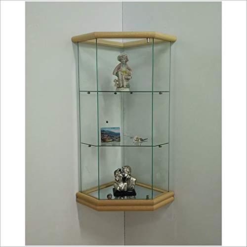 Cherry Wood VM ART DESIGN GLASS Vitrina de Pared VMBR3HT-TR