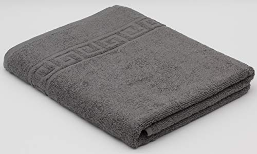 GREY BATH TOWEL 70X140 CM LARGE SIZE 100% NATURAL COTTON 500 GSM THICK ABSORBENT TOWEL, HOTEL QUALITY RINGSPUN