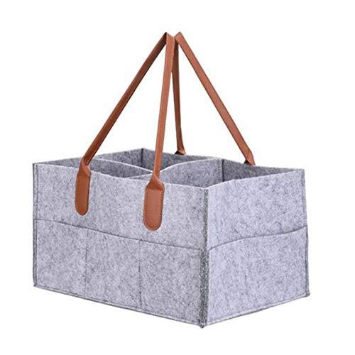 Duomu - Portapañales para bebé, bolsa de almacenamiento para cochecito, bolsa de viaje para coche, caja de almacenamiento para habitación de niños, cesta de fieltro