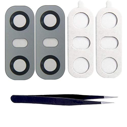 Ewparts para LG G6 Rear Back Camera Cubierta de la Lente Reemplazo de Vidrio Repair with Adhesive, Camera Lens Cover + Repair Tool Kit (Gray)