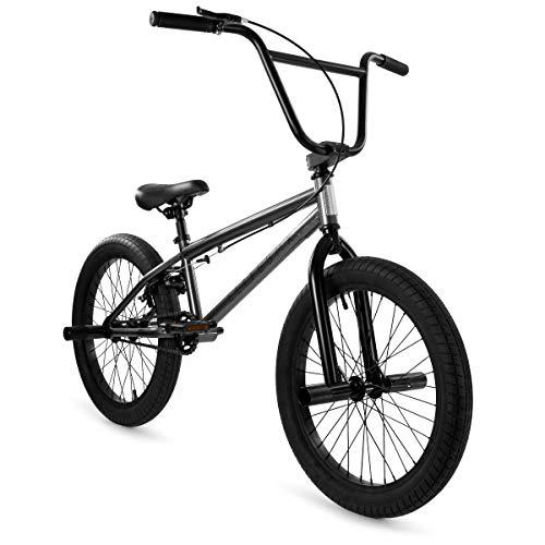 "Elite BMX Bicycle 20"" & 16"" Freestyle Bike - Stealth and Peewee Model (Stealth Gunmetal, 20"")"