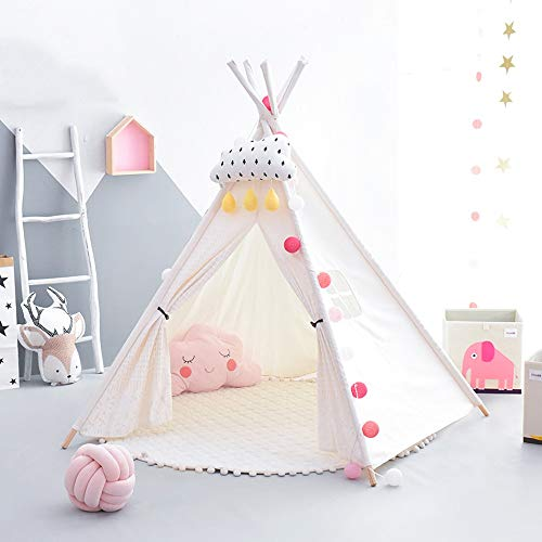 Mogicry White Simple Boy Girl Teepee House Entretenimiento