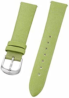 Stuhrling Original ladies 18mm green satin twill covered leather strap with steel buckle st.109SW.1215D2