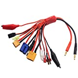 Vgoohobby 10 in 1 RC Lipo Battery Multi Charger Adapter 4.0mm Banana Plug Lead Convert Cable for RC Car Drone Quadcopter
