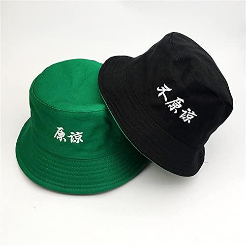 Sombreros de Cubo Mujer Carta Sombrero de Pescador de Doble Cara Slido Escalada al Aire Libre Protector Solar Sombrero de Cubo-a13