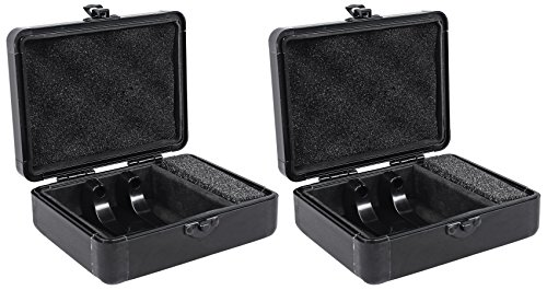 (2) Odyssey KCC2PR2BL KROM PRO2 2x Turntable Needle Cartridge Travel Cases Black