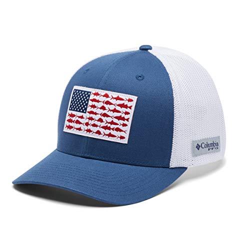 Columbia Peg Mesh Fish Flag Ball Cap, Small/Medium, Night Tide/White