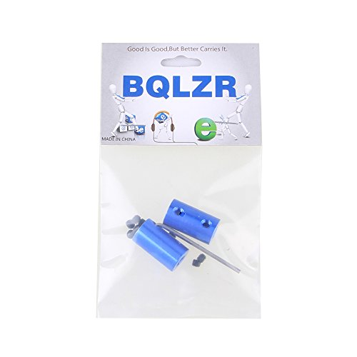 BQLZR Blue 6mm to 6mm Aluminum Shaft Coupling Rigid Coupling Coupler Motor Connector with Spanner Pack of 2