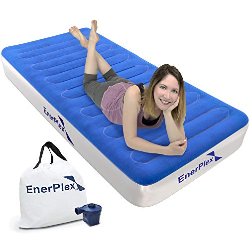 EnerPlex Wireless Technology Twin Air Mattress with Rechargeable Pump Technology Twin Airbed Inflatable Mattress Twin Size Blow Up Bed for Home Camping Travel 2-Year Warranty