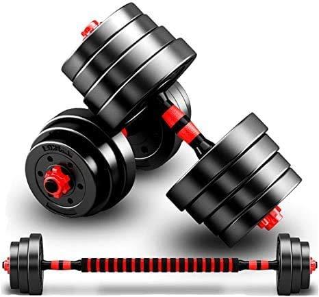 Rich Taste 20/30KG Dumbbells Barbell Set With Connecting Rod Adjustable Dumbbells set Adjustable Lifting Training Set (20KG)