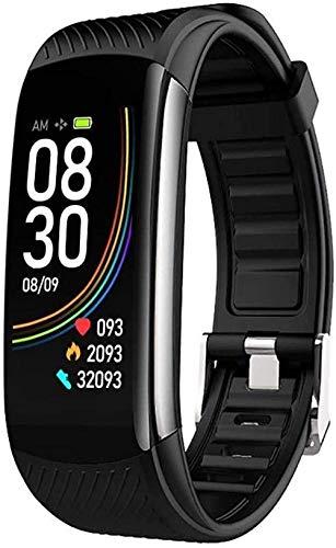 JSL Reloj deportivo de moda pulsera deportiva impermeable inteligente cálculo de calorías saludable gestión del sueño recordatorio de llamada adecuado para hombres mujeres y niños - negro