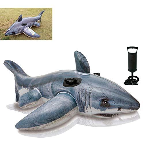 GOLDGOD Aufblasbarer Pool, Big Shark Float Lounger Luftmatratze Oder Urlaub, Strände, Resorts Und Mehr 173 * 107Cm,B