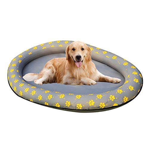 dream-cool Hundepool Floaties - Hundepool Float Schlauchboot, Float Paddle Paws Hundepool Float, faltbares Schwimmbecken Floating Row Bett Wasserspielzeug für Hunde