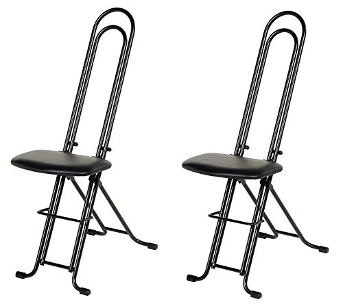 Vestil CPRO-800LP Ergonomic Worker Seat/Chair, 13-1/2' Width, 10' Depth, 300 lb. Capacity, 18' - 33' Height Range (Pack of 2)