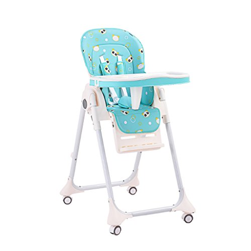Chaise de bébé Chaise de Salle à Manger pour Enfants Chaise bébé Siège d'enfant Enfants Mangeant dinette Tabouret Pliant Portable (Color : Green, Size : 55cm*76cm*104cm)