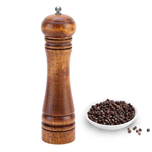 Molinillo de pimienta de madera y molinillos de pimienta para especias, salero...