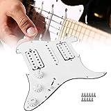 Golpeador de guitarra eléctrica precableado, estándar americano Golpeador de guitarra eléctrica fácil de instalar, 11 orificios para guitarra eléctrica SQ Guitarra eléctrica ST(white)