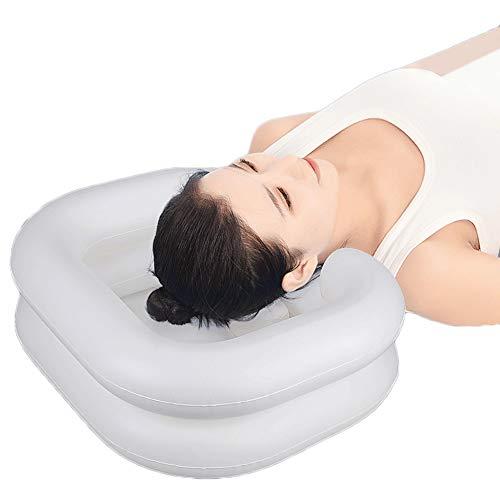 AMBH Aufblasbares Shampoo-Waschbecken, tragbares Haarwaschbecken, PVC, Hilfsmittel für Haare, Shampoo-Schüssel mit Ablaufschlauch für Betten, beim Waschen von verletzten Haaren
