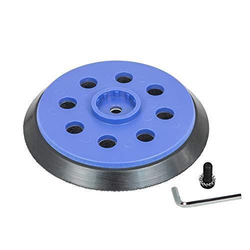 Plato Lijadora 125mm / 5' con 8-Agujero para Bosch GEX 125-150 AVE Professional - Plato de lija medio para abrasivos con velcro - DFS