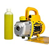 FAVORCOOL FC-30T 3.0CFM 1/4HP Single-Stage Rotary Vane Vacuum Pump,1/4' Flare Inlet Port, for HVAC Car Truck A/C AC Refrigerant Charge R410a R134a R22, Wine Degassing,Milking, Medical, Food Processing