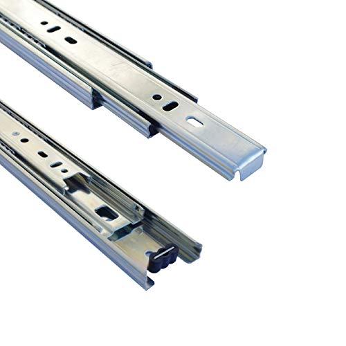 1 Paar 35 mm Teleskopschienen Schubladenschienen Schubladenauszug Vollauszug (Länge: 600 mm (1 Paar))