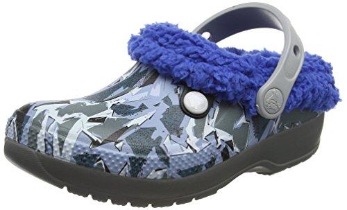 Crocs Classic Blitzen III Graphic Kids, Unisex - Kinder Clogs, Grau (Slate Grey/blue Jean), 22/23 EU