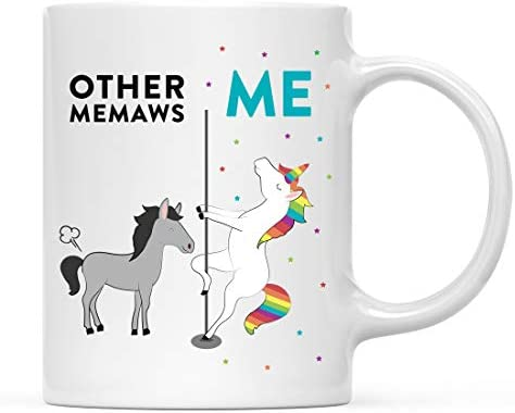 Andaz Press Funny Quirky 11oz Ceramic Coffee Tea Mug Thank You Gift Other Memaws Me Horse Unicorn product image