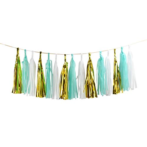 Party Paper Decorations 1Set Mixed DIY Tissue Paper Tassel Garland for Wedding Kids Unicorn Birthday Party Decorations Baby Shower Favors Supplies