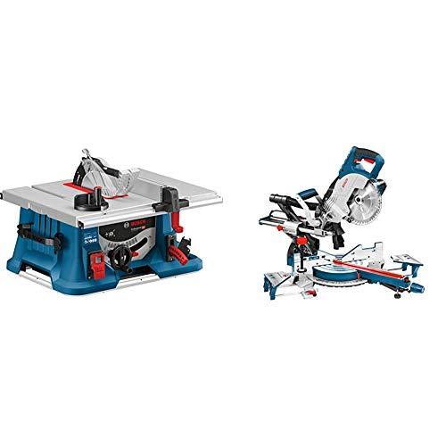 Bosch Professional 0601B42000 Scie sur Table GTS 635-216 (1600 W, 216 mm, 30 mm) & Scie à Onglets Radiale GCM 8 SJL (1600 W, Diamètre de Lame : 216 mm, Boite Carton) Bleu 25,4 cm