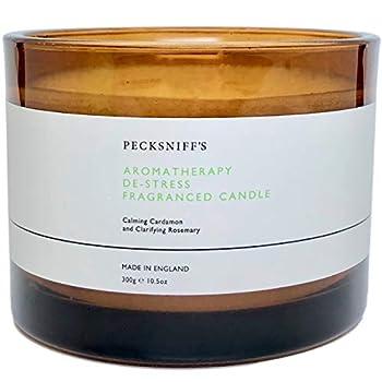 Pecksniffs England Aromatherapy De-Stress Fragranced Candle with Three Wicks